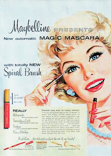 "An ad for Ultra Lash (later renamed Great Lash) - the world's first ""automatic"" mascara"