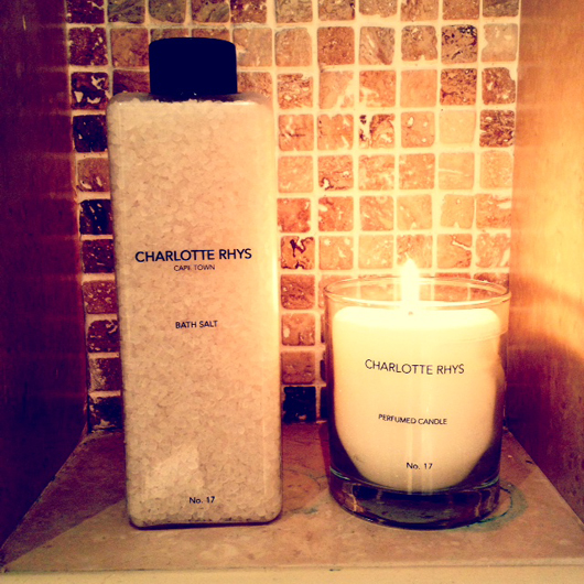 Charlotte Rhys bath salts & scented candle in No. 17