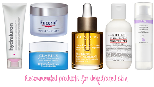 Recommended products for dehydrated skin