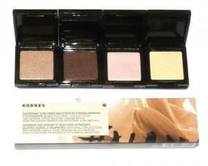 Korres eyeshadows