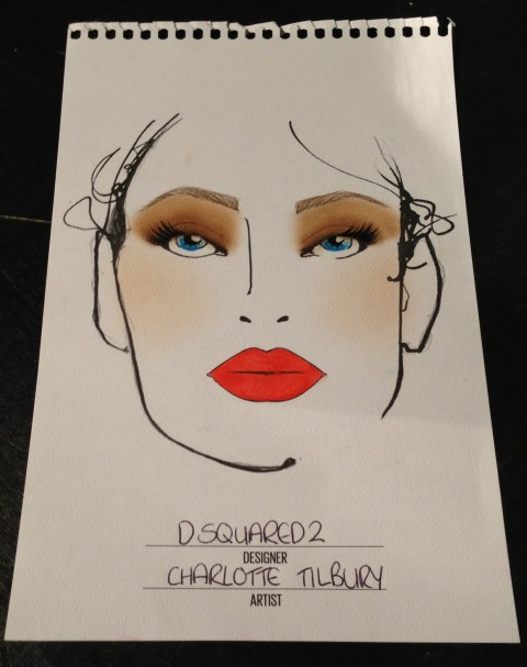 Charlotte Tilbury for Dsquared2 Milan Fashion Week SS14