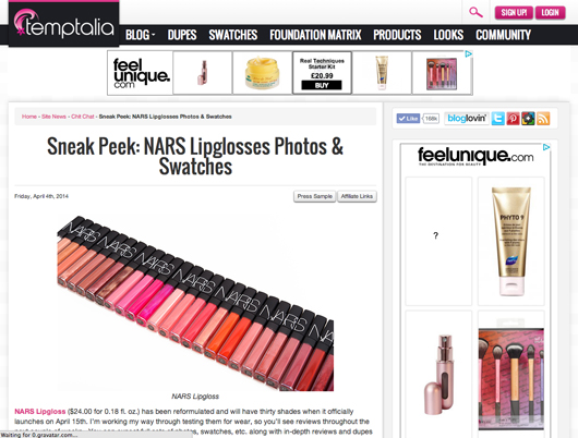 Beauty Read of the Day - Temptalia   All Dolled Up