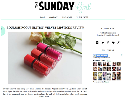 Beauty Read of the Day - The Sunday Girl | All Dolled Up