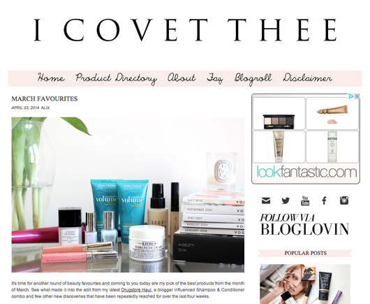 Beauty Read of the Day - I Covet Thee | All Dolled Up