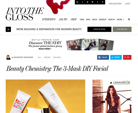 Beauty Read of the Day - Into the Gloss | All Dolled Up