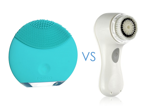 *Not to scale - the Luna is much smaller than the Clarisonic