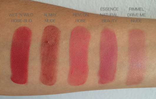 Swatches of rosy nudes | All Dolled Up