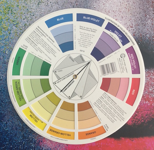 Yes, I own a colour wheel. Feel free to mock me.