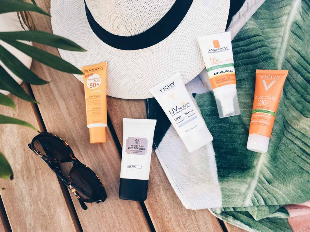 Chemical facial sunscreens you can wear under makeup