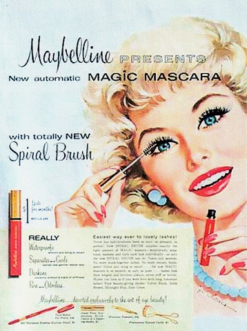 """An ad for Ultra Lash (later renamed Great Lash) - the world's first """"automatic"""" mascara"""