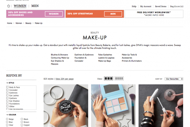 5 Beauty Brands to buy from ASOS