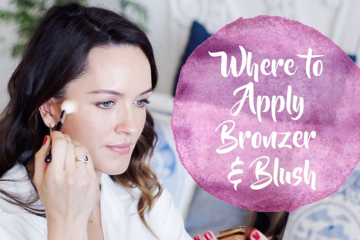 Where to apply bronzer, blush, contour & highlight